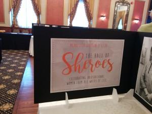 Sheroes sign at Mcmaster University