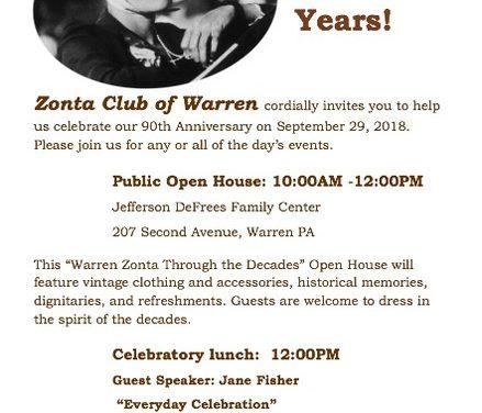 Warren Celebrates 90 Years