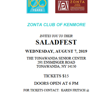 ZC of Kenmore Hosts Annual Saladfest Fundraiser Aug. 7, 2019