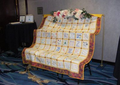 District 4 Centennial Quilt Displayed at Conference