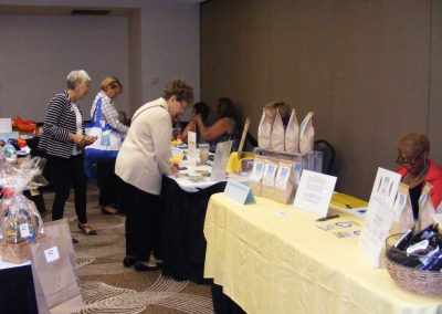Zonta Clubs sell fundraising items.