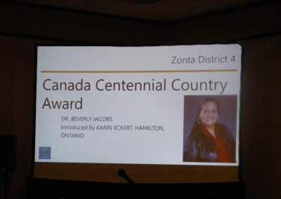 Canadian Centennial Country Award, Dr. Beverly Jacobs