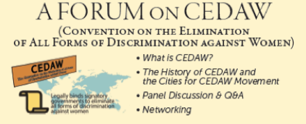 Rochester Announces Forum on CEDAW Oct. 29