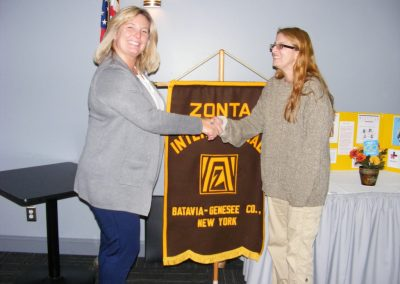 ZC of Batavia-Genesee -Heather is Zontian of Year 2019