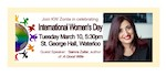 Kitchener-Waterloo Celebrates IWD with Samra Zafar on Mar. 10th