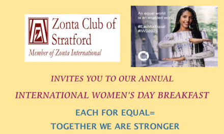 ZC of Stratford Invites You to IWD Breakfast Mar. 6th