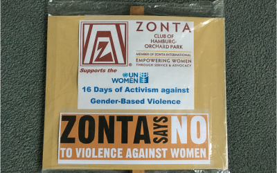 Promoting Zonta – In Her Own Creative Way!